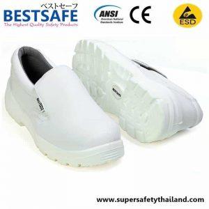 รองเท้านิรภัยสีขาว