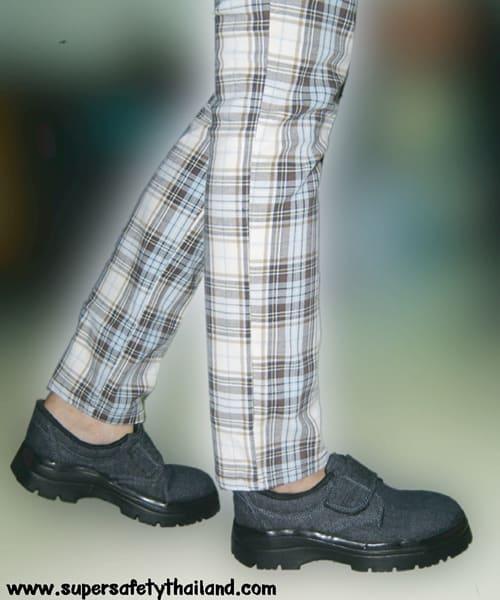 รองเท้าเซฟตี้ผ้าใบยีนส์แบบเทป รุ่น Best Jean - Tape