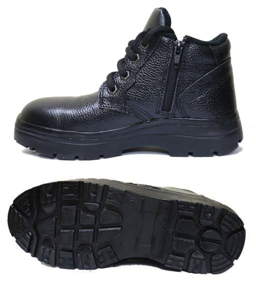 รองเท้าเซฟตี้หุ้มข้อแบบซิปข้าง รุ่น BEST ZIP