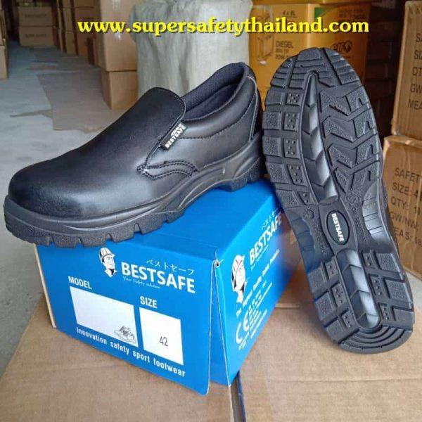 Black ESD safety รองเท้าเซฟตี้สีดำน้ำหนัก เบา