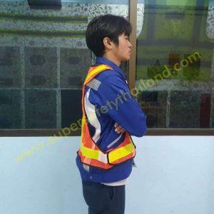 เสื้อสะท้อนแสง เสื้อกั๊กสะท้อนแสง คุณภาพสูง ทรง V รุ่น Best Vest 02