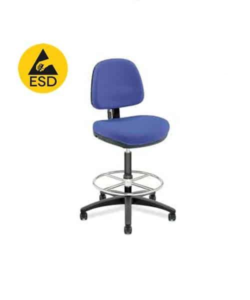 เก้าอี้ป้องกันไฟฟ้าสถิตย์แบบมีผนัก