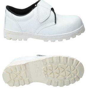 รองเท้าหัวเหล็กสีขาว
