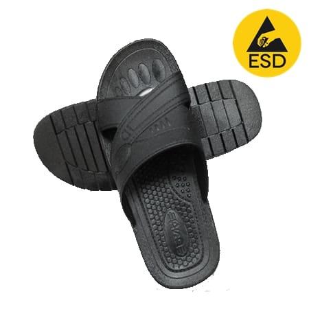 รองเท้าแตะ ESD สีดำ