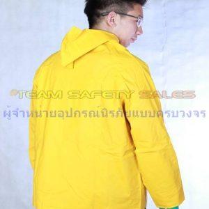 ชุด PVC แบบเสื้อคลุมกันสารเคมี