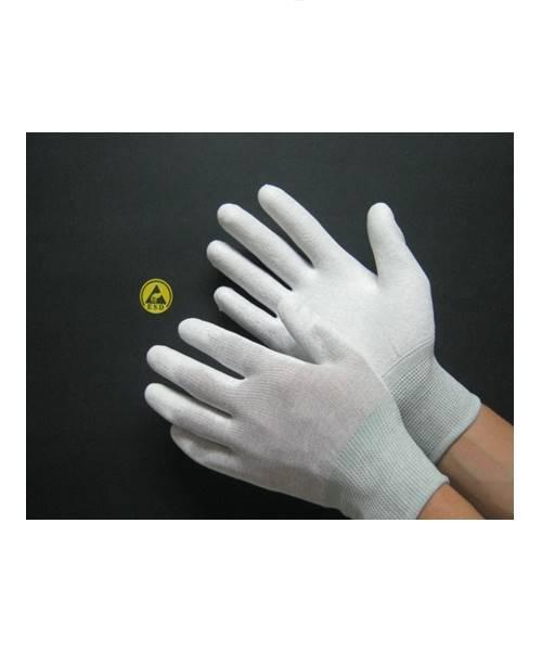 ถุงมือกันไฟฟ้าสถิตย์เคลือบโพลียูรีเทนเต็มฝ่ามือ