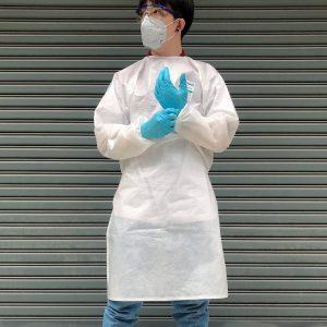 ชุดป้องกันสารเคมี แบบเคลือบ ป้องกันสารเคมีและเชื้อโรคได้