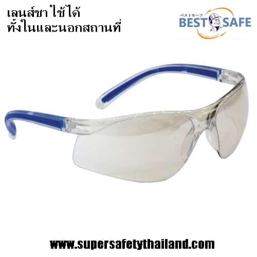แว่นตาเซฟตี้นิรภัยเลนส์ใสทรง Sport รุ่น Clear Perfect เลนส์ชา