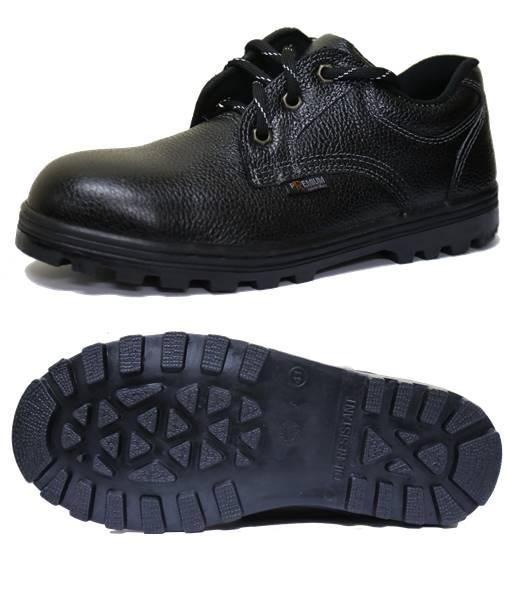 รองเท้าเซฟตี้หุ้มส้นหนังอย่างดีพื้นยางทนความร้อน 300C
