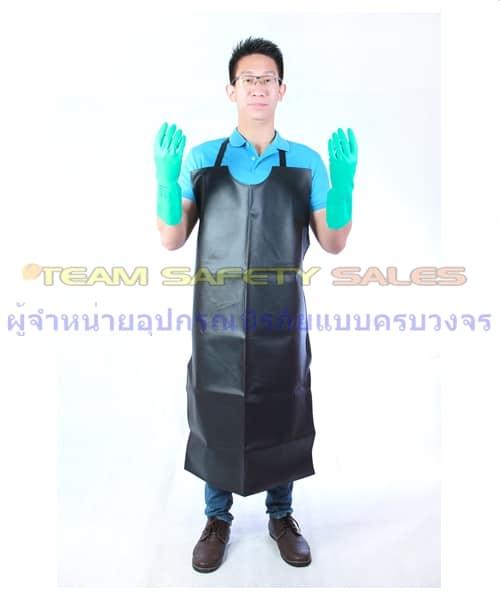 เอี้ยม PVC สีดำ กันสารเคมีกันสารเคมี กันน้ำมัน กันของเหลว ใช้กับงานอาหารได้