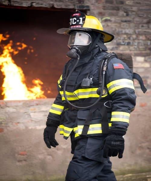 ชุดดับเพลิงมืออาชีพมาตรฐาน NFPA สีกรม