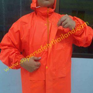 เสื้อกันฝน ชุดกันฝน เสื้อกันฝนอย่างดี แบบเสื้อแยกกางเกง มีแถบสะท้อนแสง