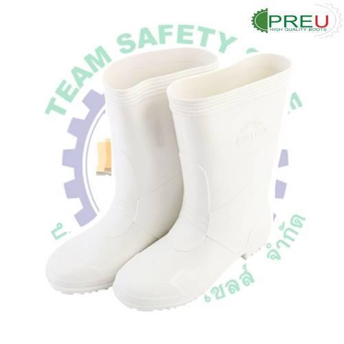 อุปกรณ์อื่นๆ : รองเท้าบูทยาง PVC สีขาวสูง 9.5 นิ้ว (จำหน่ายเป็นโหล)