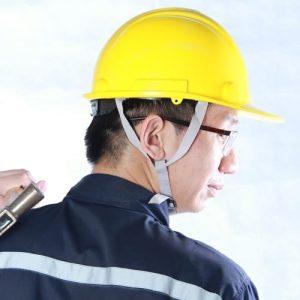 หมวกเซฟตี้นิรภัยสายรัดคาง 4 จุดปรับเลื่อนราคาส่ง