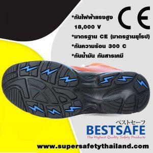 Japan Safety รองเท้าเซฟตี้หัว Composite พื้นกันทะลุ รุ่น Colossus