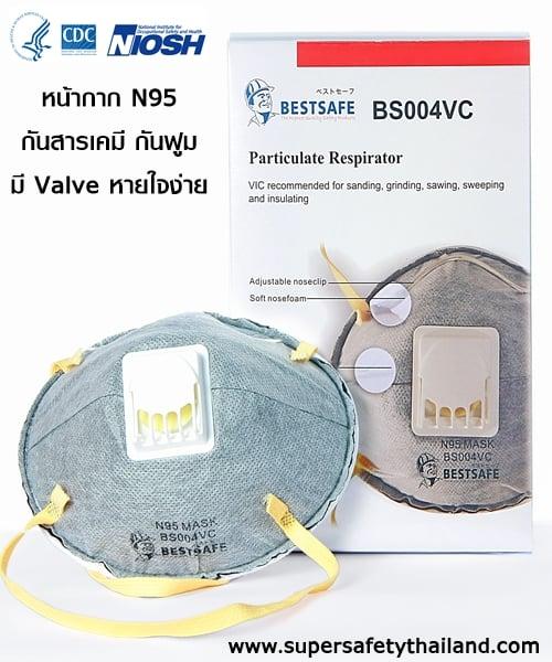 Amazing หน้ากาก N95 เสริมคาร์บอนมาตรฐาน USA กันฝุ่น ฟูม ไวรัส ได้ดี