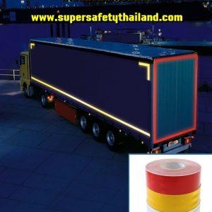 เทปสะท้อนแสง / เทปติดรถ ตามมาตรฐานกรมขนส่งทางบก (ขาว/เหลือง/ขาว-แดง)