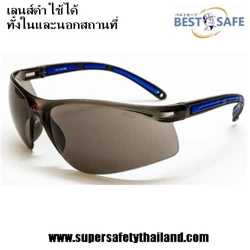 แว่นตาเซฟตี้นิรภัยเลนส์ใสทรง Sport รุ่น Clear Perfect เลนส์ดำ