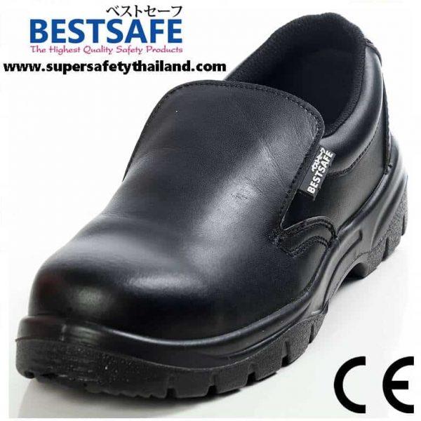 Amazing !!! รองเท้าเซฟตี้สีดำ ESD แบบไม่ต้องผูกเชือก จากญี่ปุ่น