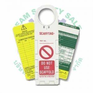 SCAFFOLD TAG (ป้ายแขวนนั่งร้าน)-ป้องกันอันตรายทำงานที่สูง