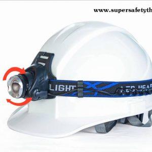 ไฟฉายคาดหัว ไฟฉายติดหมวกเซฟตี้ รุ่น Super LED