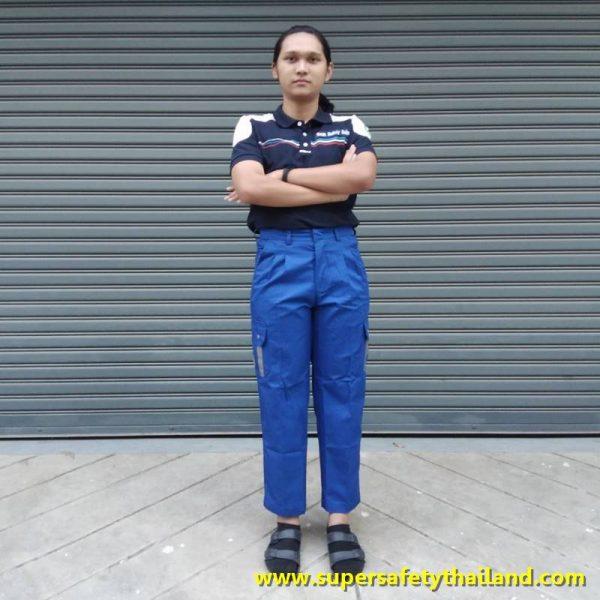 กางเกงช่างสีน้ำเงิน