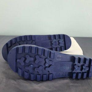 รองเท้าบูทยางหัวเหล็ก สีขาว หัวเหล็ก พื้นเหล็ก
