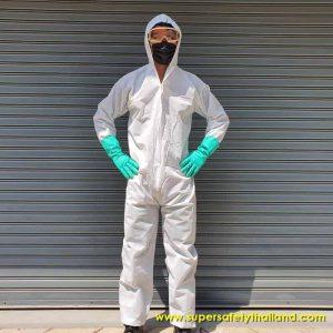 ชุด PPE ชุดป้องกันเชื้อโรค ชุดป้องกันไวรัส ชุดป้องกันเชื้อ เสื้อ PPE