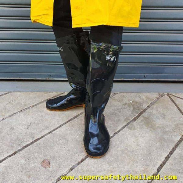 รองเท้าบูทยาง กันน้ำ กันฝน กันสารเคมี กันเชื้อต่างๆ ใช้งานหนักได้ดีมาก