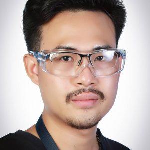 แว่นตาเซฟตี้ทรง SPORT สำหรับครอบแว่นสายตา รุ่น 15C